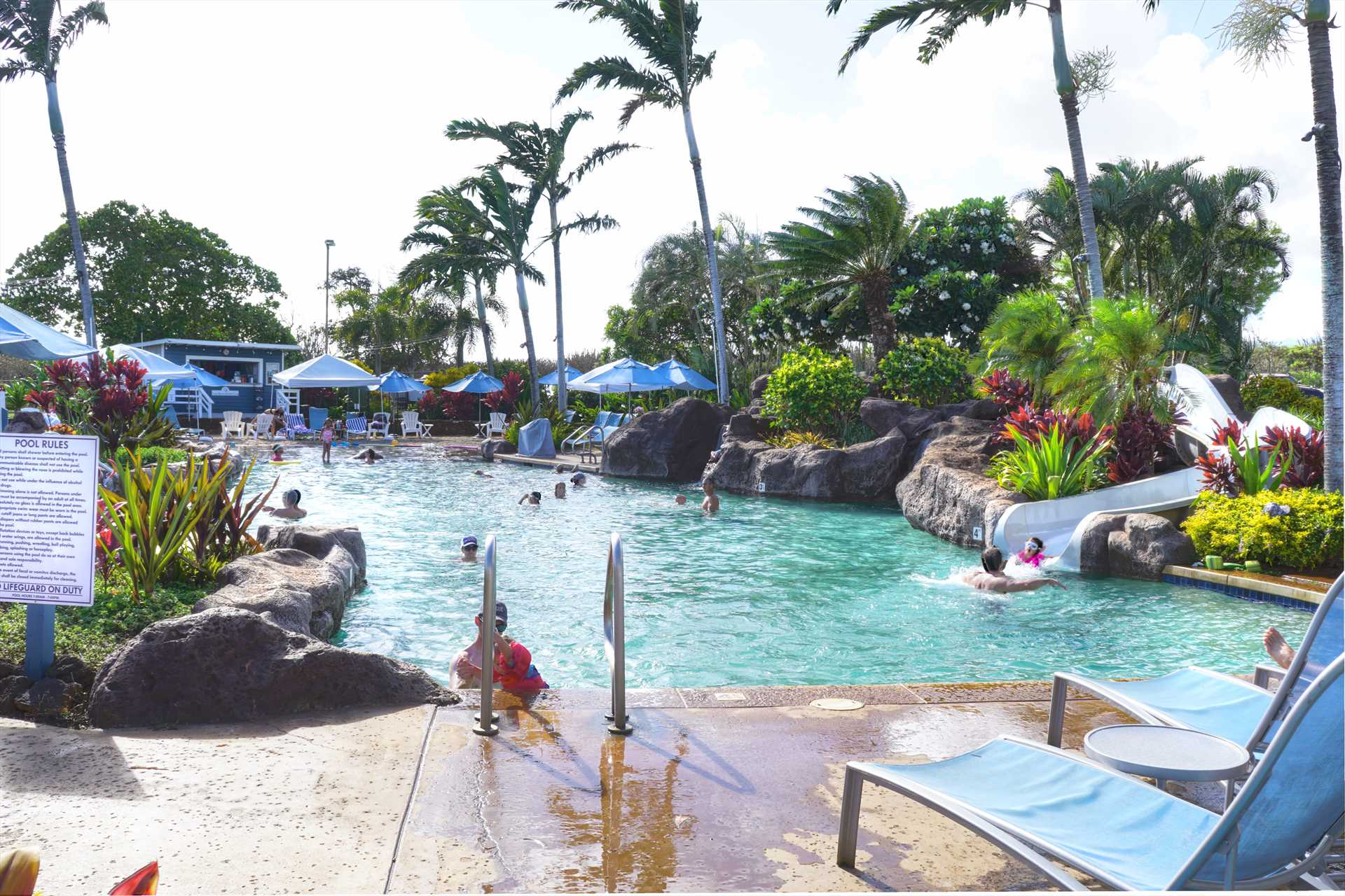 Pool/waterslide at Poipu Club, included with reservation