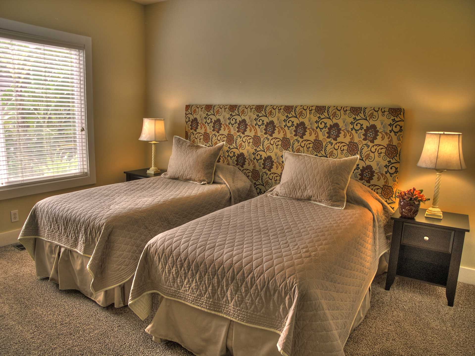 Twin Beds in the Guest Bedroom can Be Converted into a King Bed
