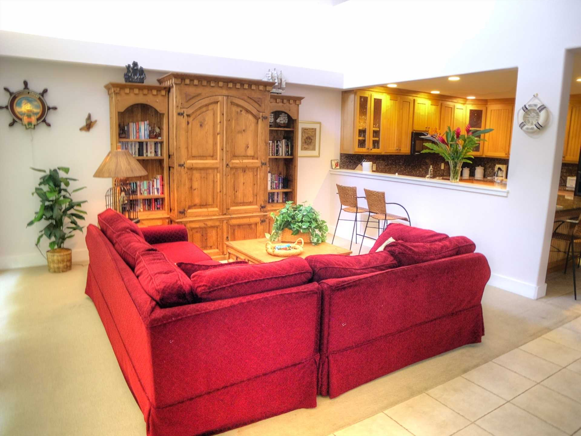 Comfortable family seating in Living Room