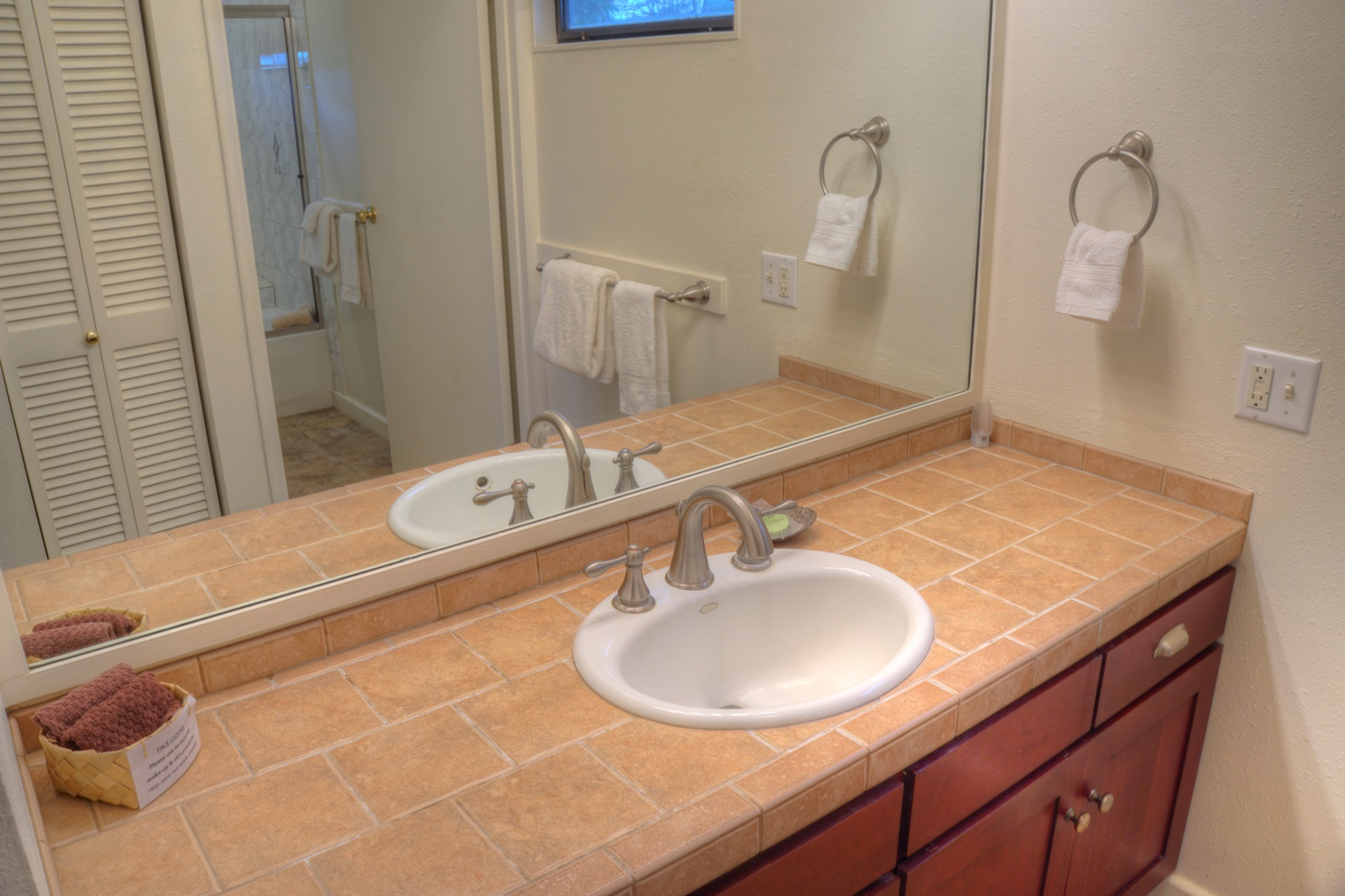 Master bath sink area.  Very similar for all  bathrooms