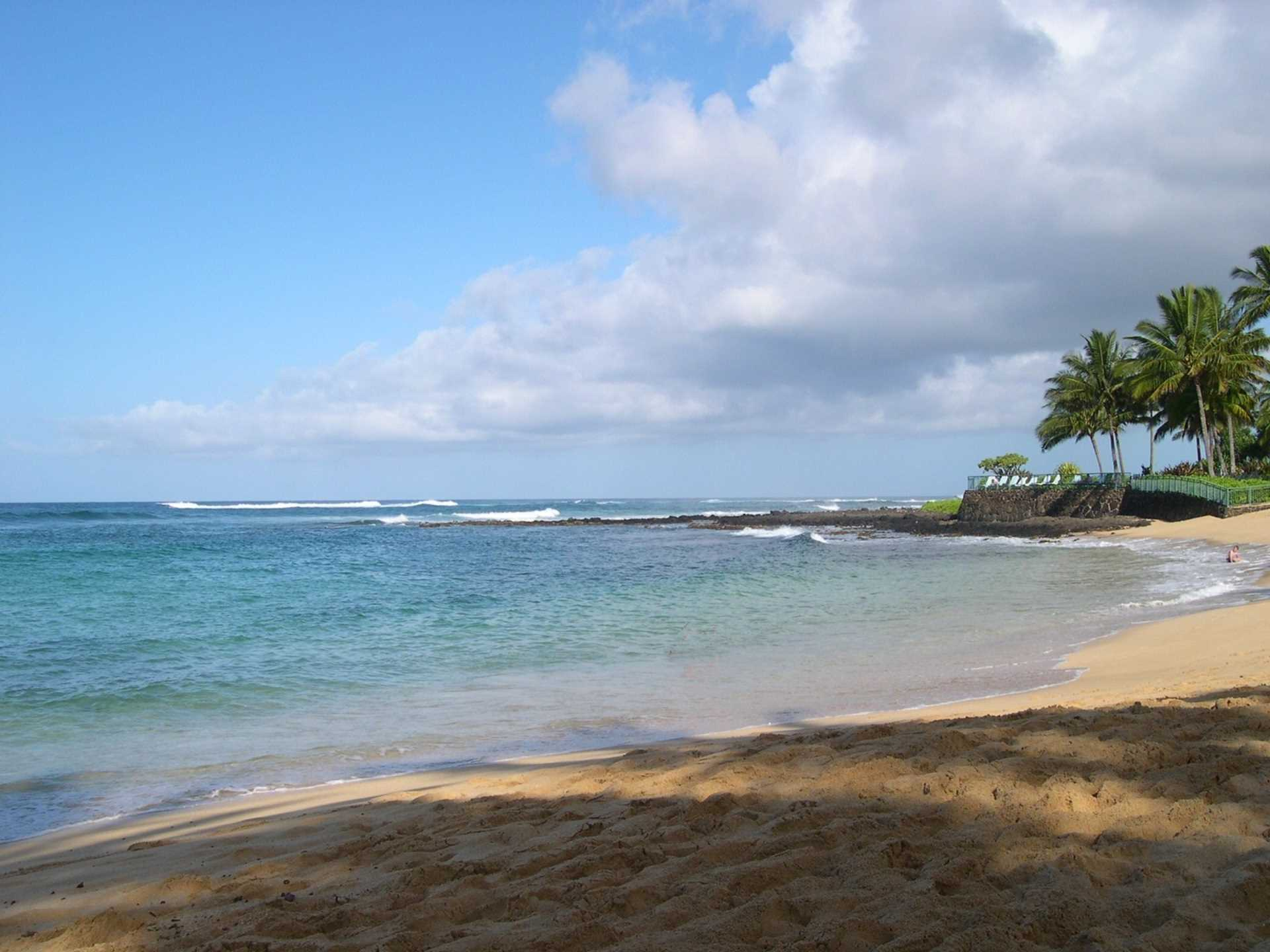 Poipu beach, great swimming, snorkeling, paddleboarding, and surfing year round
