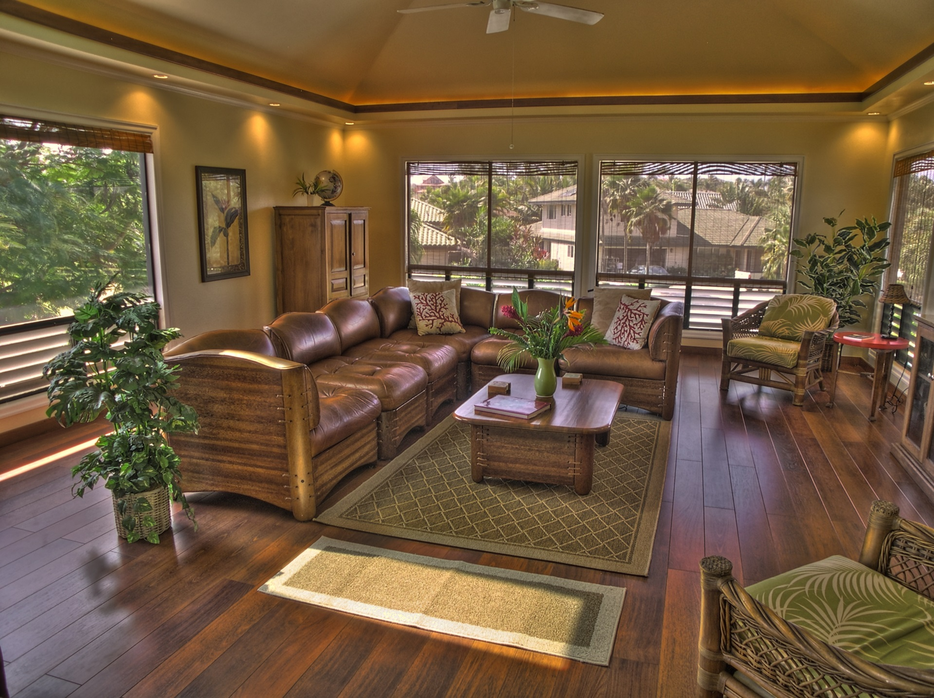 Spacious, comfortable living and gathering area