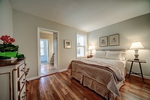 Master Bedroom with Queen bed and attached Bath