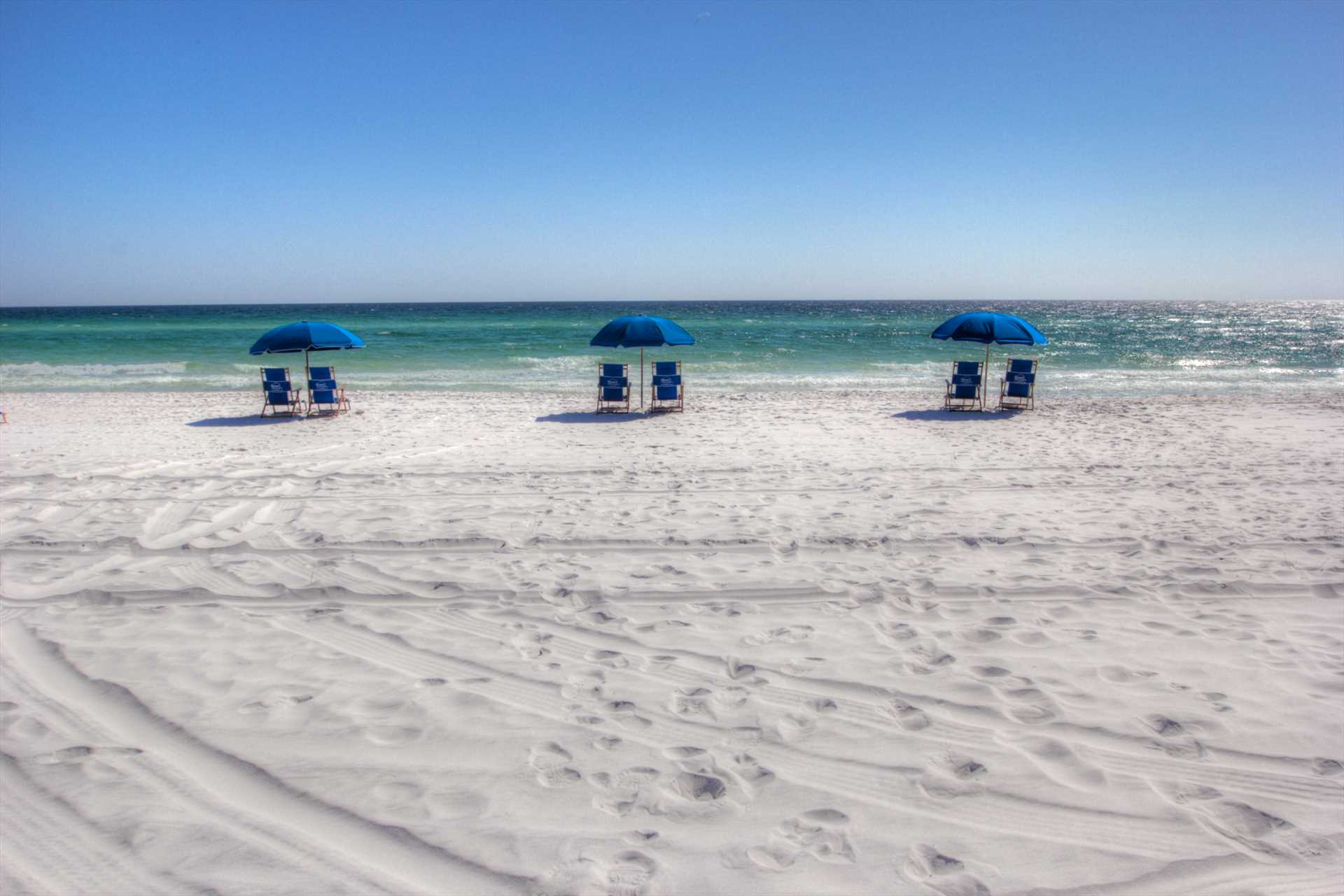 Two Beach Chairs and an Umbrella with every rental in Season