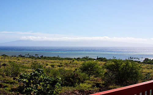 Stunning views from lanai
