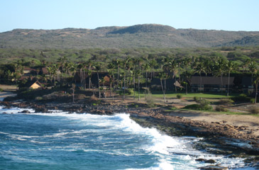 View of the grounds and ocean