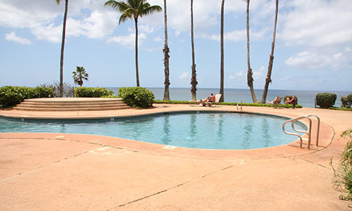 View the ocean from the pool