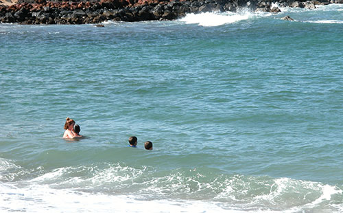 Dixie beach nearby is a great spot for swimming