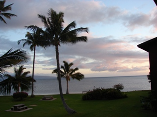Sunsets seen from Molokai Shores at night