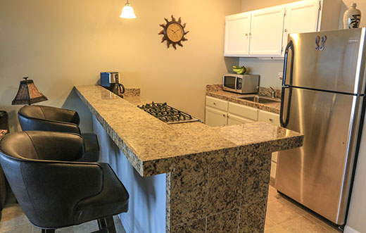 Countertop dining area
