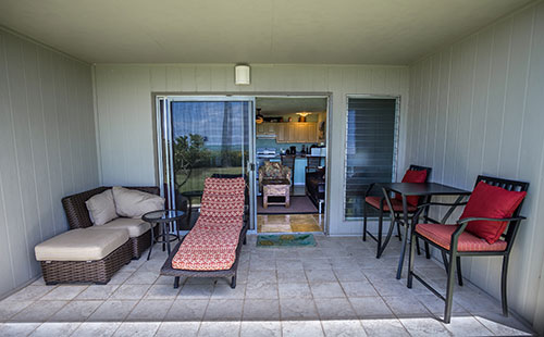 Get comfortable on the lanai