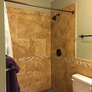 Luxurious tile shower