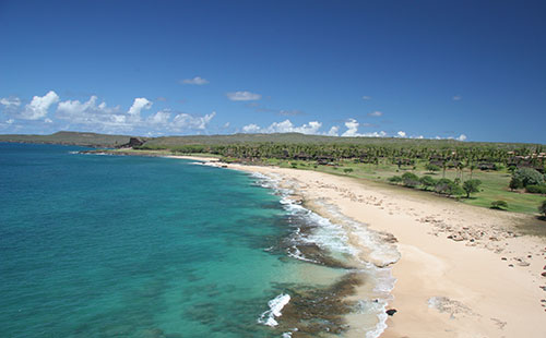 Papohaku Beach on west side.