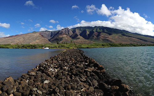 Molokai's south shore