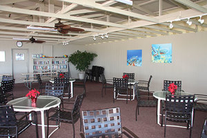 Poolside cabana for dining and socializing