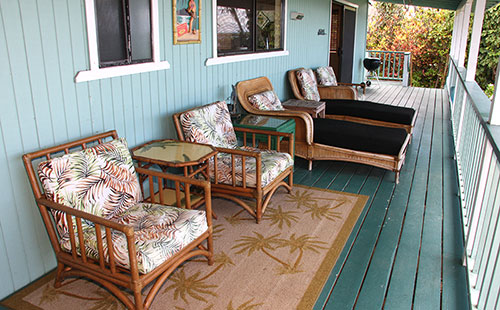 Lanai is a great place to relax and enjoy ocean view