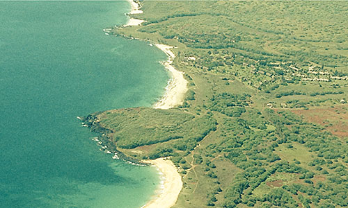 Aerial view of west Molokai