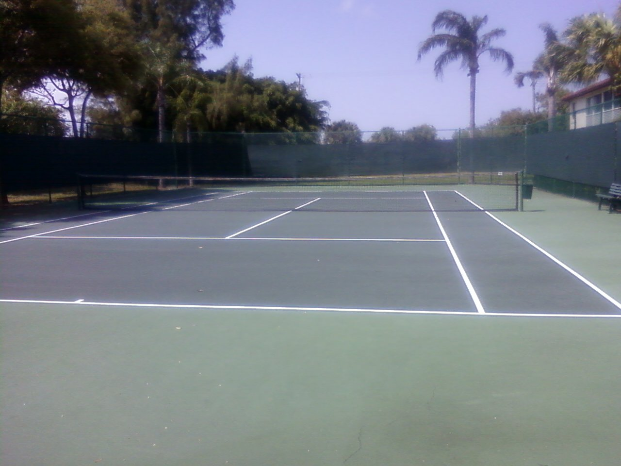 Tennis court at clubhouse