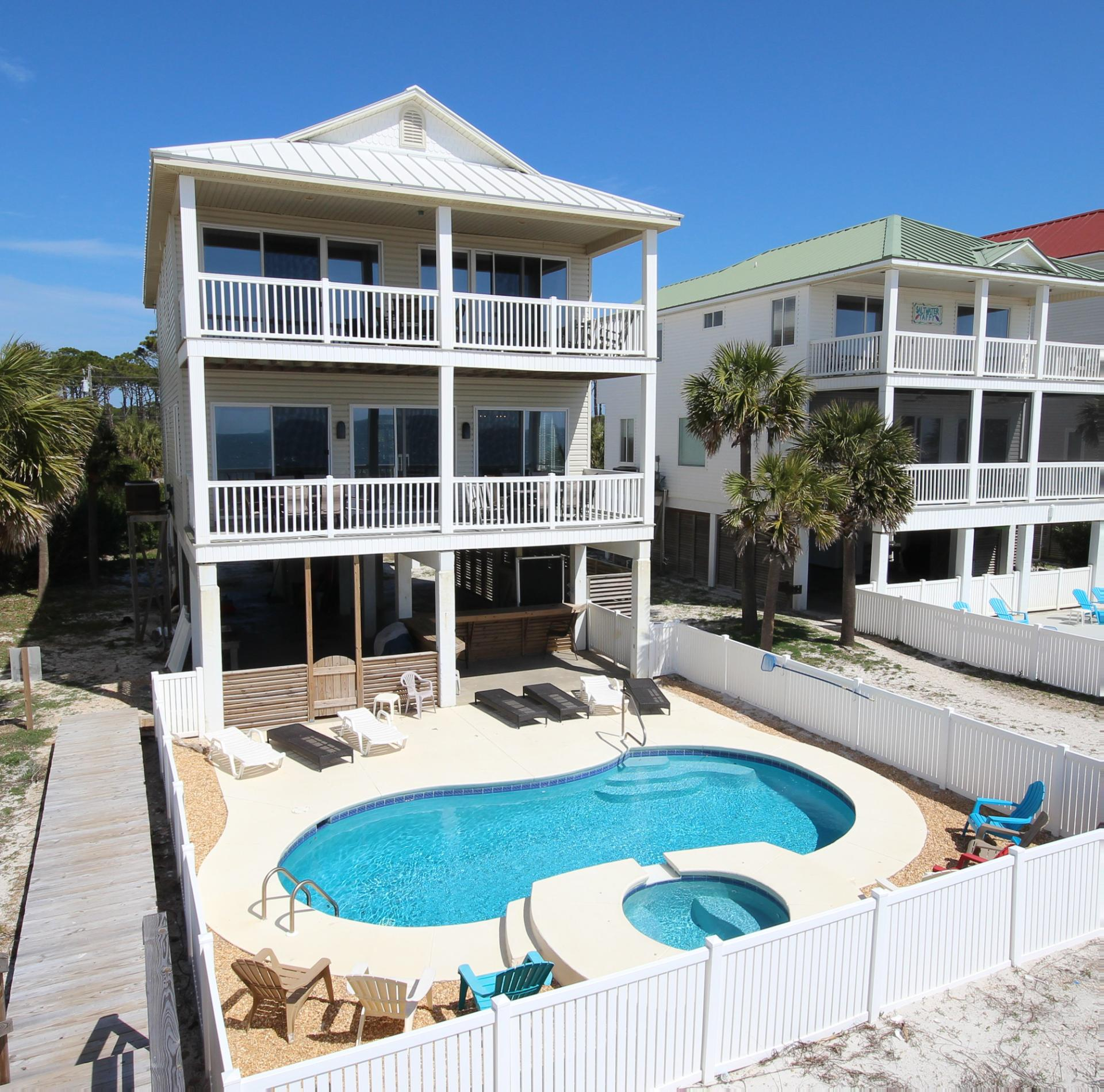 Vacation Rentals: SANTORINI: Cape San Blas 5 Bedroom 5 Full Bathroom House