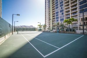 Play a couple sets of Tennis on our Lighted Courts...Hawaii calls