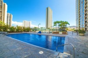 Tiled Pool deck, relax and take a swim...from your Hawaii condo Rental
