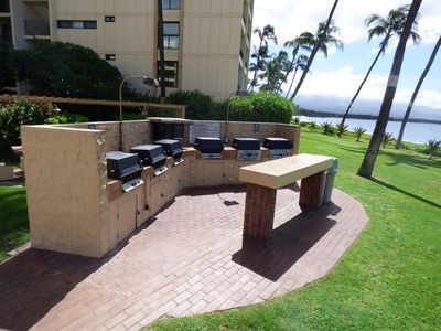 Outdoor Bbqs...grill your favorite meals at your own Maui Condo Rental at Sugar Beach!