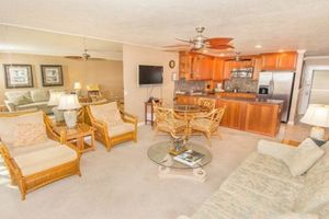 """Comfortable Living rooms in tropical decor..welcome to your Maui Vacation Rental 'home away fro home"""""""