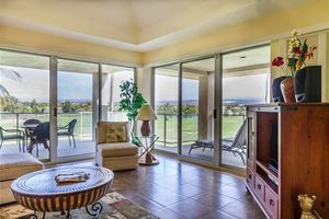 Comfortable living room...from your own  hawaii condo rental at Waikoloa Beach resort