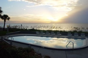 Enjoy beautiful sunsets from the outdoor pool at Clearwater