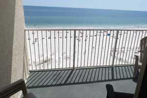 Enjoy sitting on this 6th floor, Clearwater balcony and watching the waves crash along the shoreline