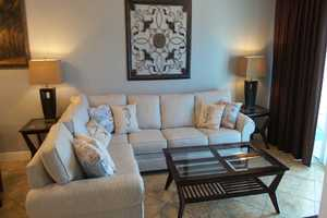 Comfortable living area - sofa is a sleeper so the condo sleeps up to 6 people!