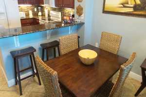 Dining area - enjoy a meal during your stay!