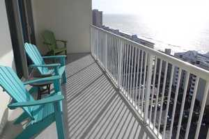 Relax on the 18th floor and enjoy memorable sunrise and sunsets over Gulf Shores