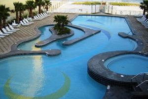 Take a splash in the indoor pool during your Crystal Towers vacation
