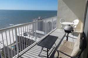 Enjoy relaxing on the 20th floor balcony, plenty of places to sit and enjoy the sunrise and sunsets of Gulf Shores