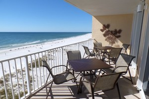 Relax on this 7th floor balcony at San Carlos