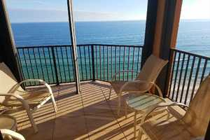 Sit out on this 12th floor balcony and see these amazing views of the Gulf!  White, sandy beaches are yours to view for miles!