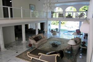 Great room opens to pool