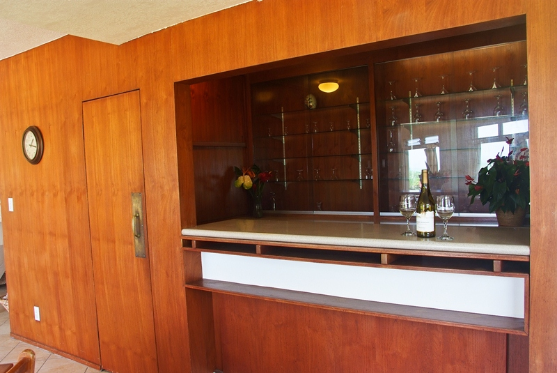Wetbar next to dining area