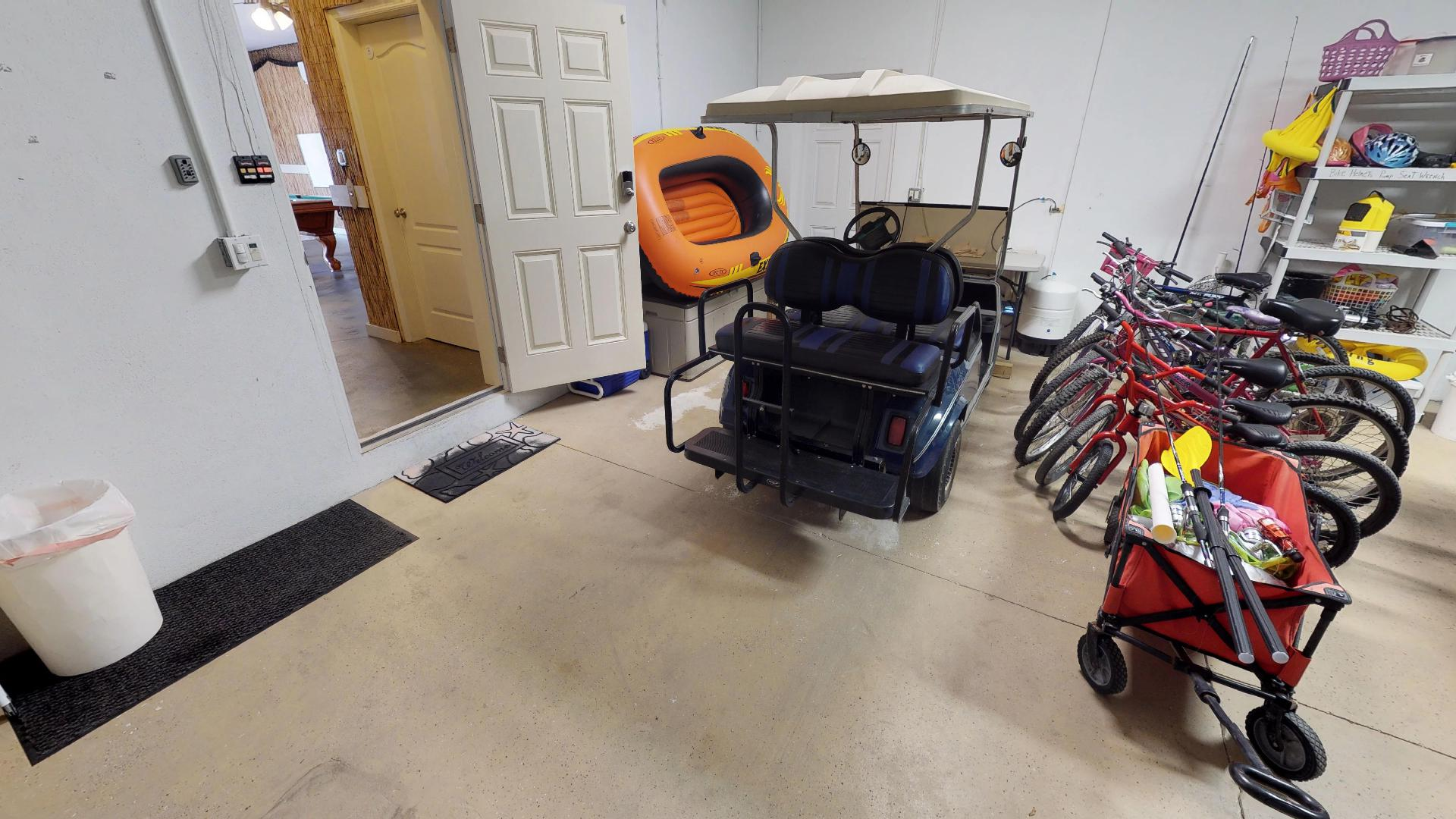 Included Golf Cart and Bikes