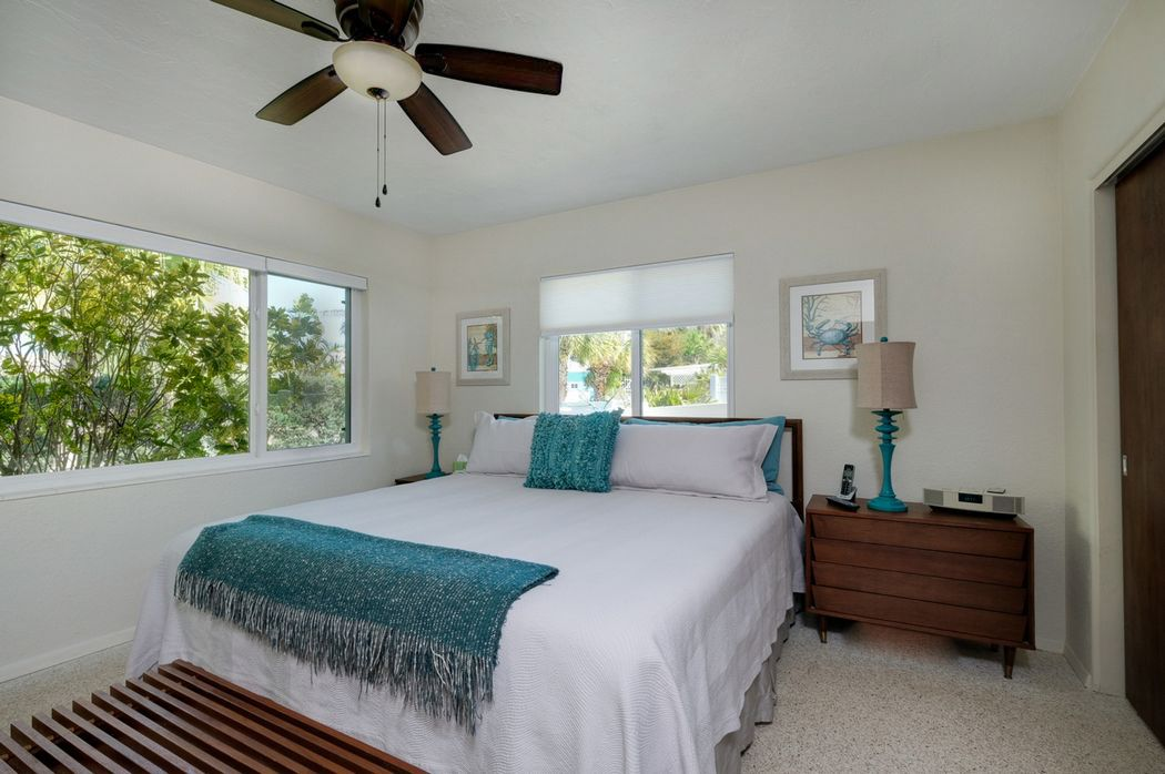 Second Bedroom with King Bed and Pool View