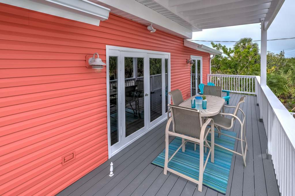 Enjoy Outdoor Dining on the Spacious Balcony