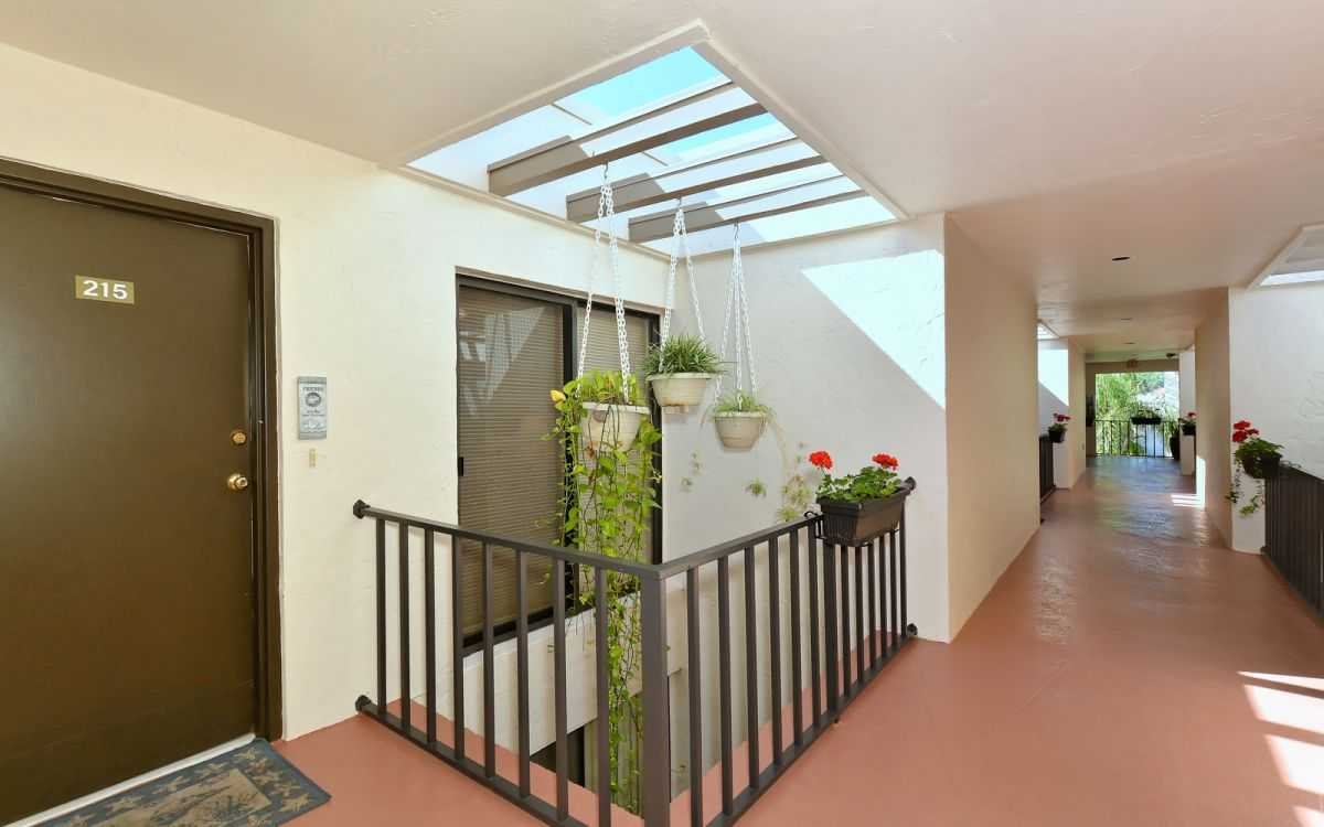 Second Level Entry with Skylights