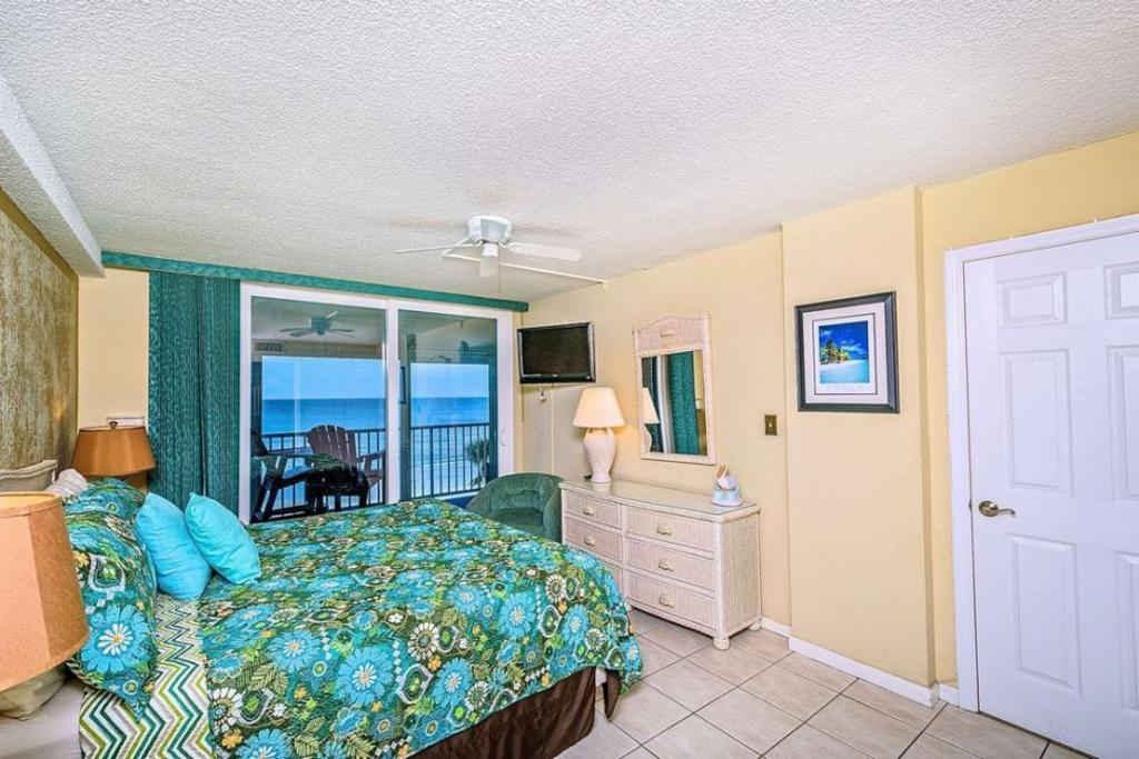 Master Bedroom with Balcony and Beach View