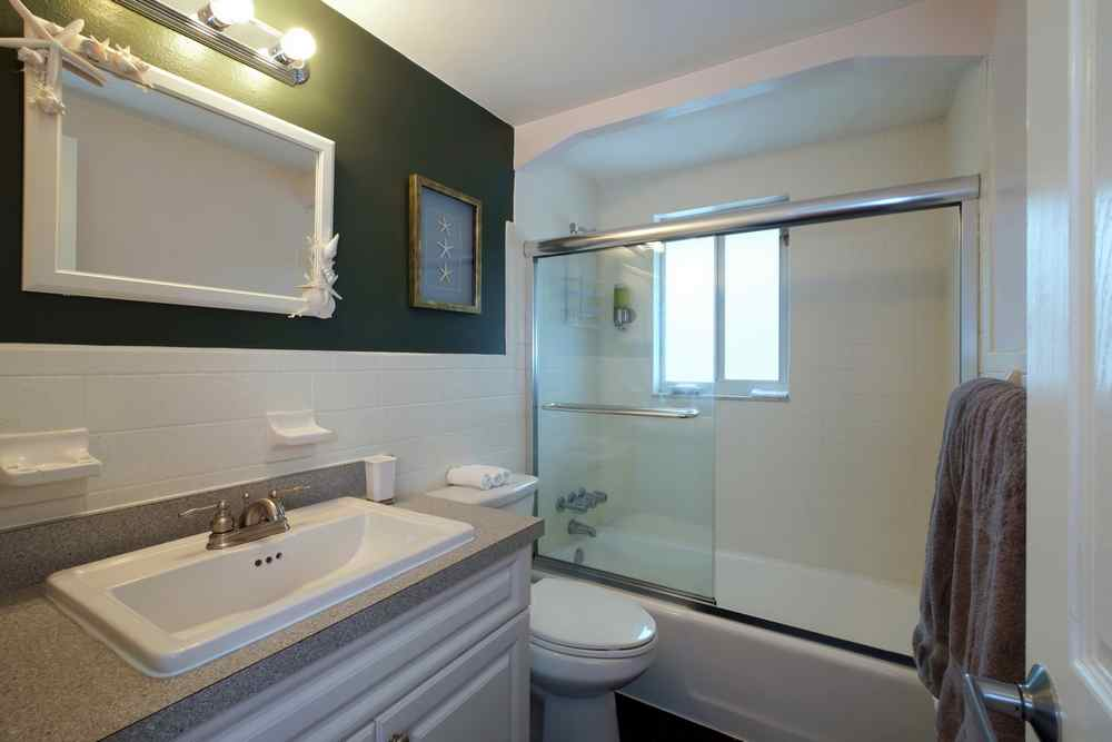 Bathroom off the Main Living Area with Tub/Shower