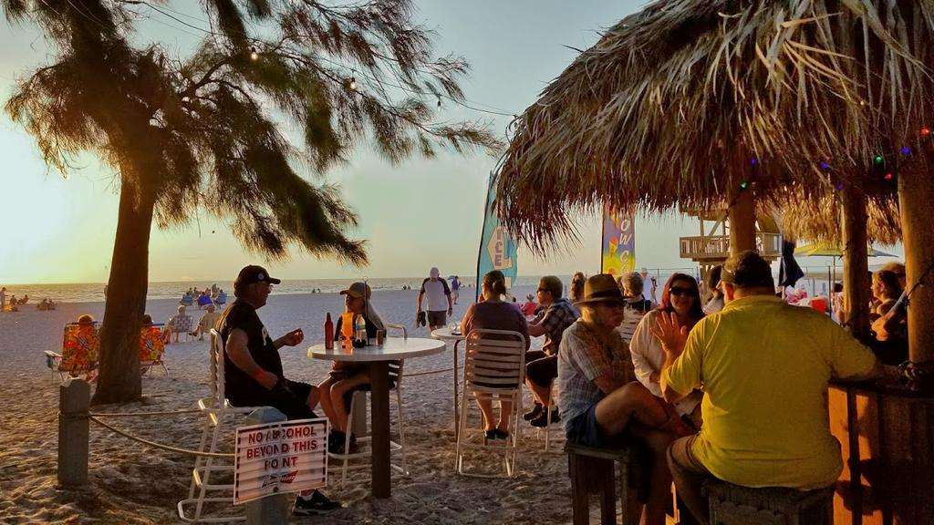 Tiki Time, Live Music and Sunset at Manatee Beach