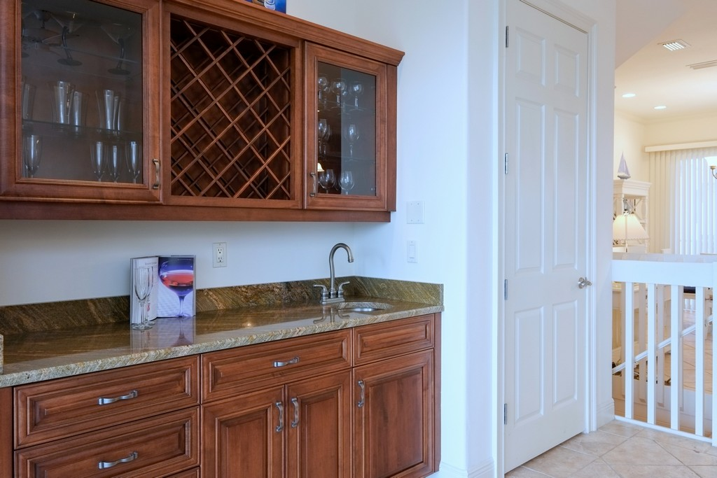 Wet Bar on Main Level Offers Extra Storage, Too!
