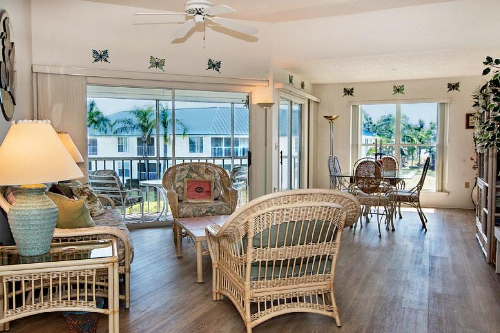 Living Room with Lanai and Outdoor Seating.