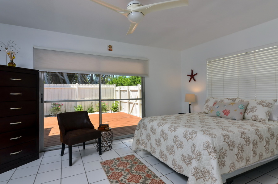 Guest Bedroom With Walk-Out to Side Deck