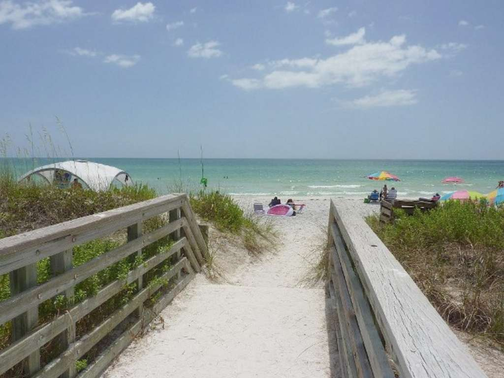 Plenty of Beach Parking and Easy Paths to the Gulf